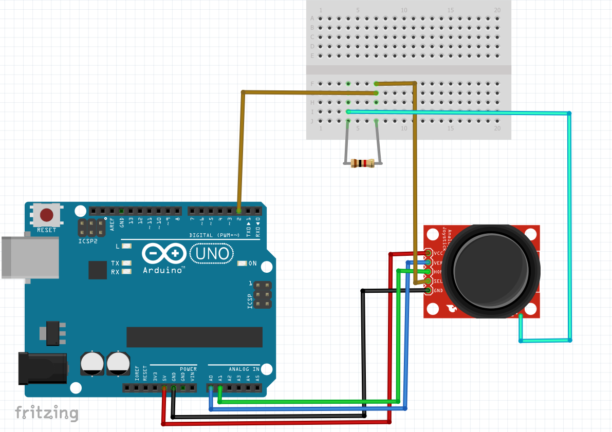 How To Simply Interface The Joystick Module With Arduino Board 2 Axis Wiring Diagrams In Case You Got Same Problem As Me