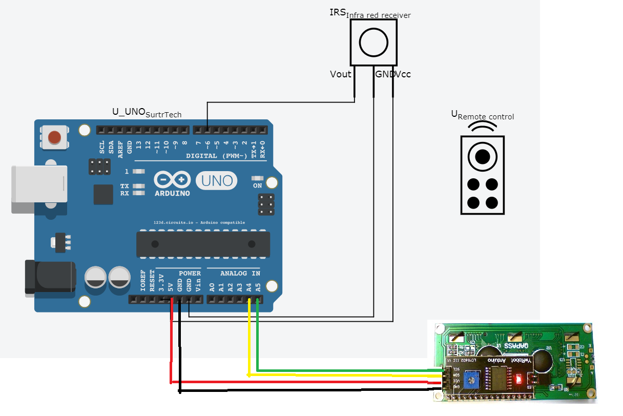 How To Use Infrared Receiver And Remote Control With Arduino Surtr Ir Circuit Diagram Wiring
