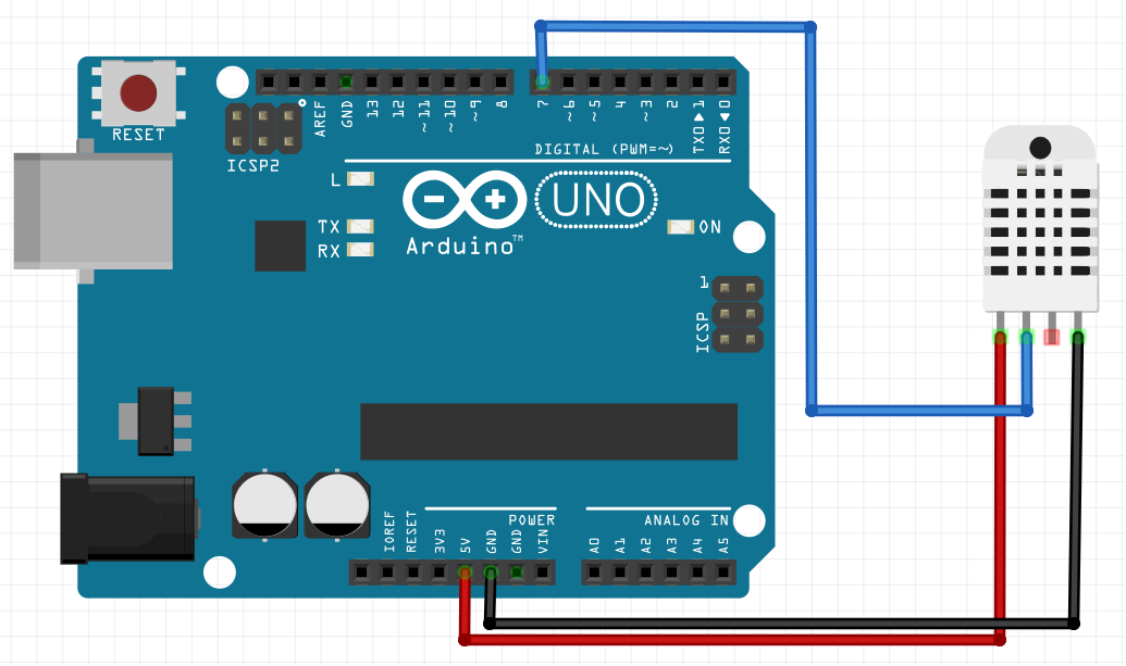 Measure temperature/humidity using DHT22 + LCD i2c + Arduino – SURTR