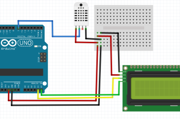 Measure temperature/humidity using DHT11 + LCD i2c + Arduino – SURTR