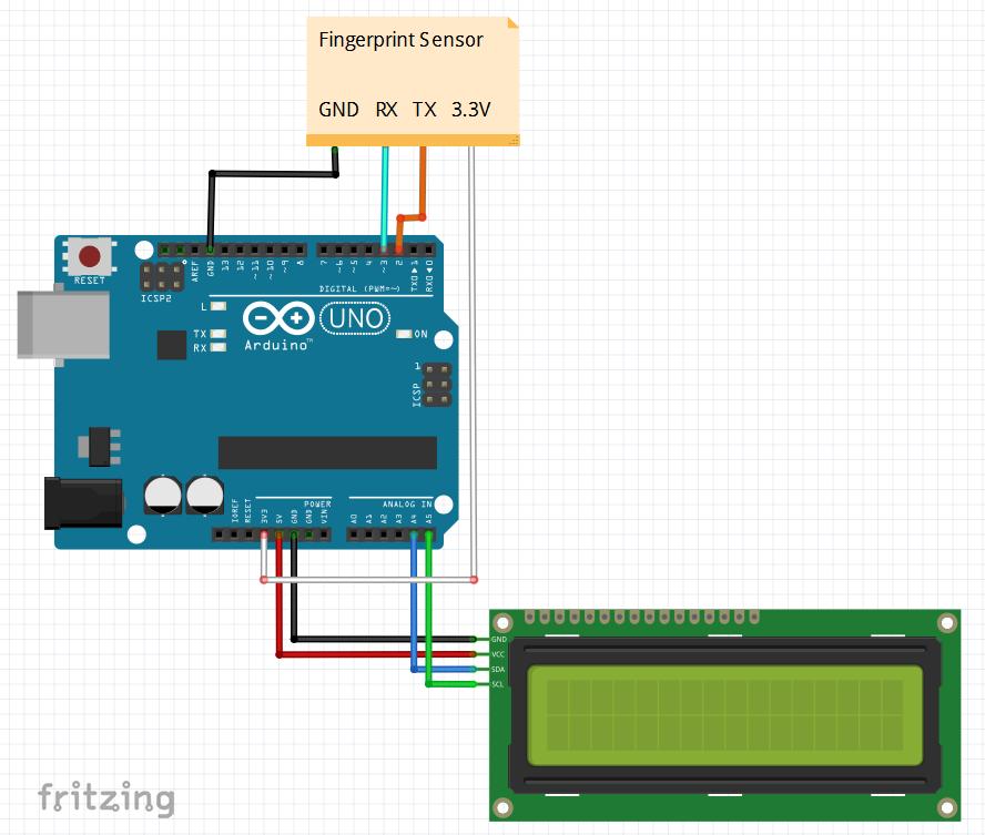 Interfacing FPM10A (50DY) Fingerprint sensor with Arduino