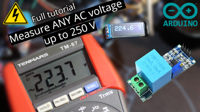 Easy measure of AC Voltage using Arduino and ZMPT101B – SURTR TECHNOLOGY