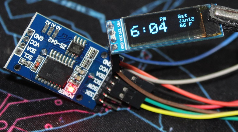 How to simply use DS3231 RTC module with Arduino + OLED display